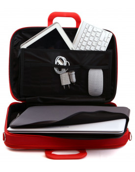 SACOCHE BUSINESS - Compartiment pour portable ouvert.